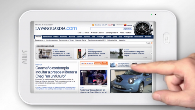 Airis Tablet La Vanguardia