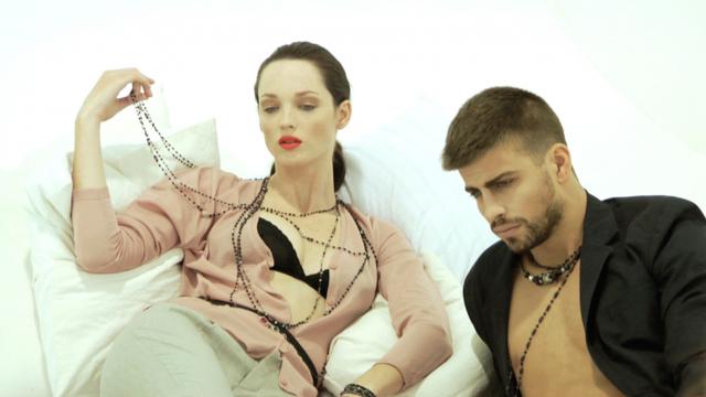 Rosich con Gerard Piqué y Carla Crombie